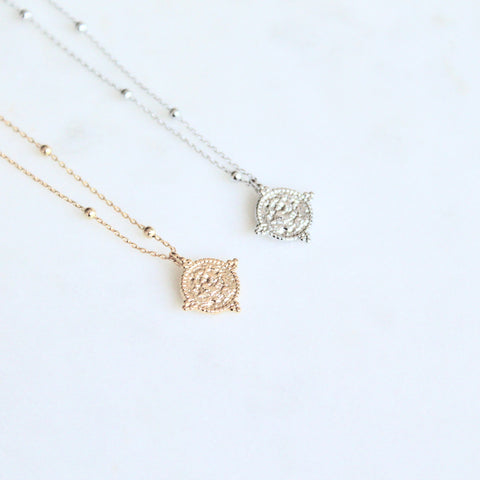 Mini coin dainty necklace - Lily Lough Jewelry