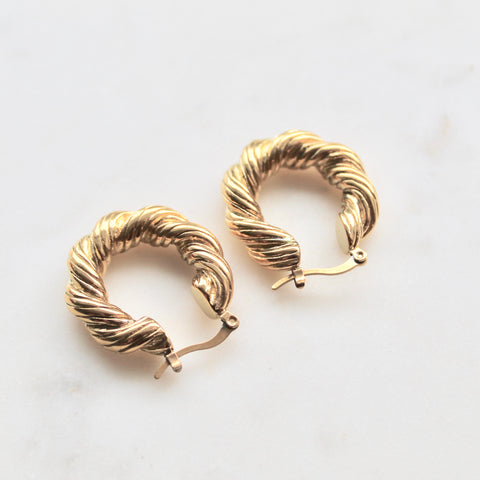 Twisted gold hoops - Lily Lough Jewelry