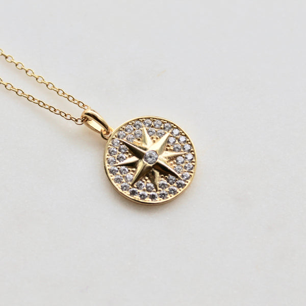 Northern star medallion necklace - Lily Lough Jewelry