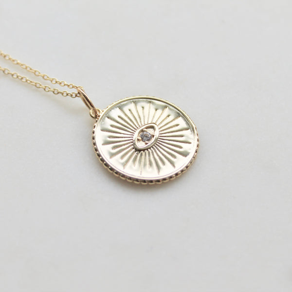 Evil eye medallion necklace - Lily Lough Jewelry
