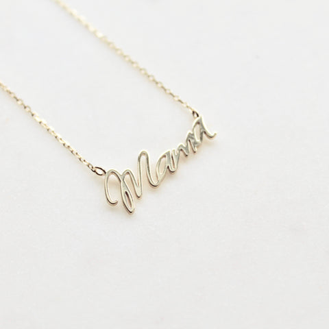 Mama sterling silver necklace - Lily Lough Jewelry