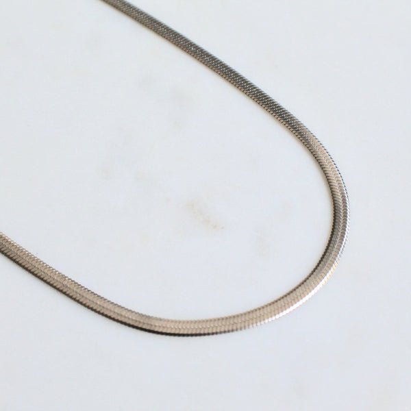Herringbone chain necklace 5mm - Lily Lough Jewelry
