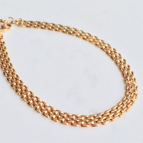 Watchband shape link necklace - Lily Lough Jewelry
