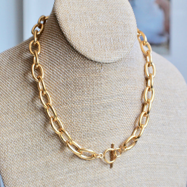 Chunky oval chain necklace - Lily Lough Jewelry