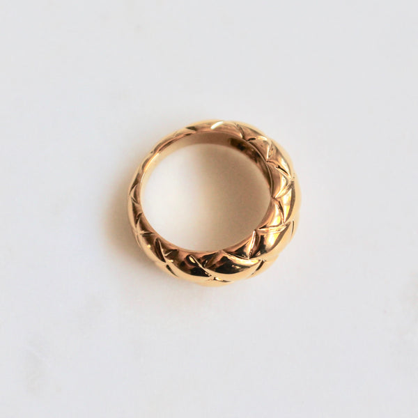 Gold plated stainless steel ring - Lily Lough Jewelry