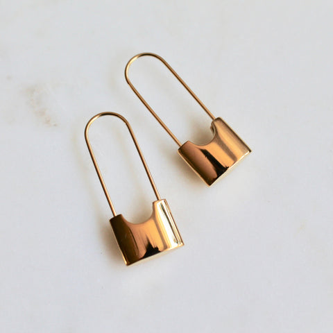 Cecilia gold earrings - Lily Lough Jewelry