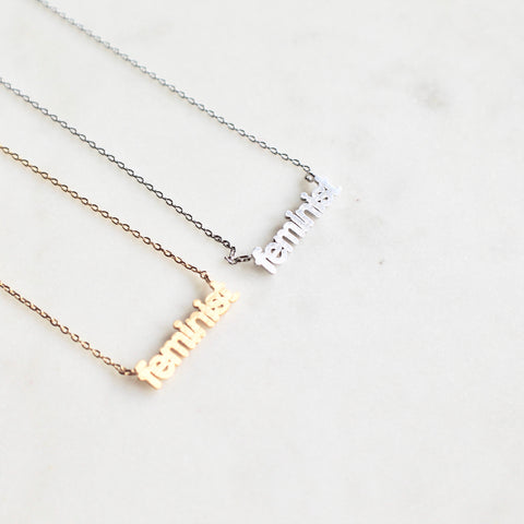 Feminist dainty necklace - Lily Lough Jewelry