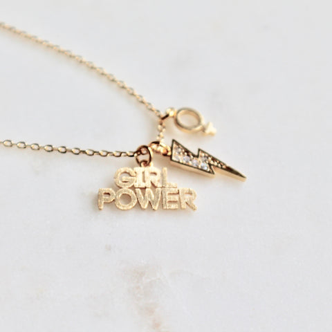 Girl power dainty necklace - Lily Lough Jewelry