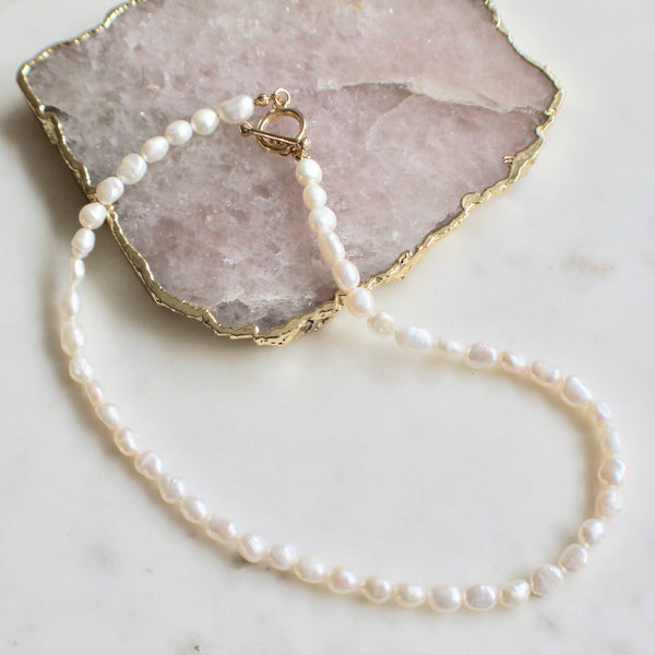 Classic fresh water pearl necklace - Lily Lough Jewelry