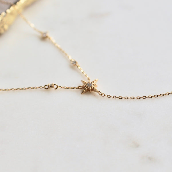 Lariat star dainty necklace - Lily Lough Jewelry