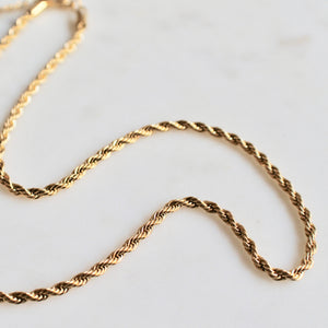 2mm twisted rope chain necklace - Lily Lough Jewelry