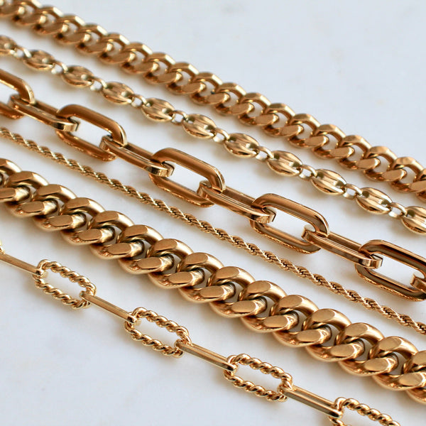 Alexandra gold chain necklace - Lily Lough Jewelry