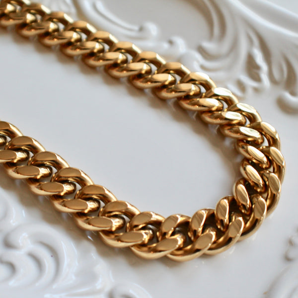 Bold curb chain necklace - Lily Lough Jewelry