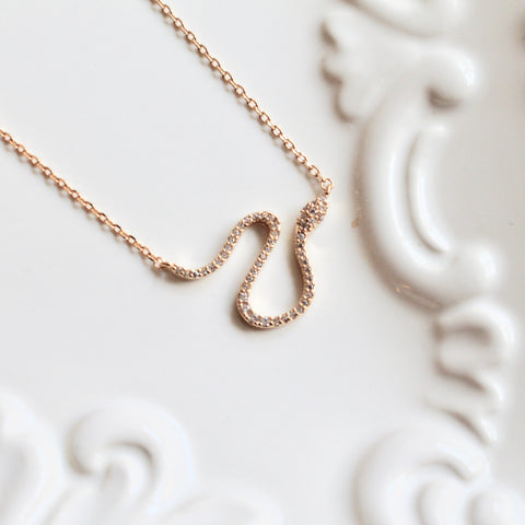 Snake dainty necklace - Lily Lough Jewelry