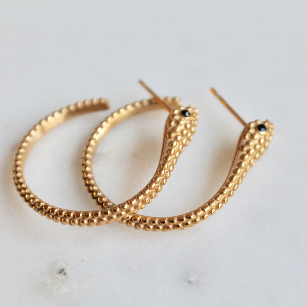 Snake hoop earrings - Lily Lough Jewelry