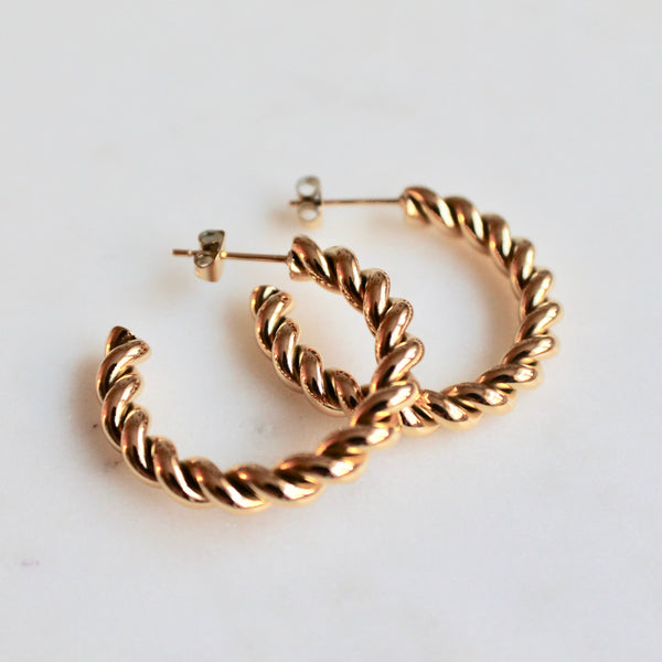 Twisted hoop earrings - Lily Lough Jewelry