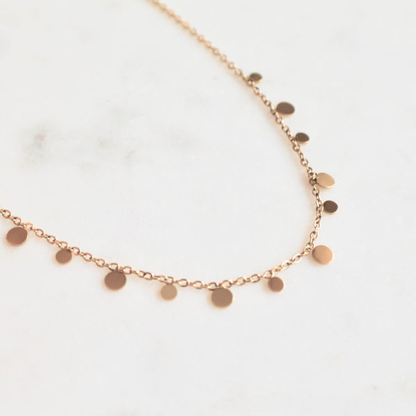 Circle charms necklace - Lily Lough Jewelry
