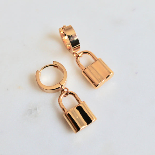Lock earrings - Lily Lough Jewelry