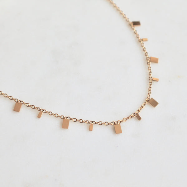 Square charms choker necklace - Lily Lough Jewelry