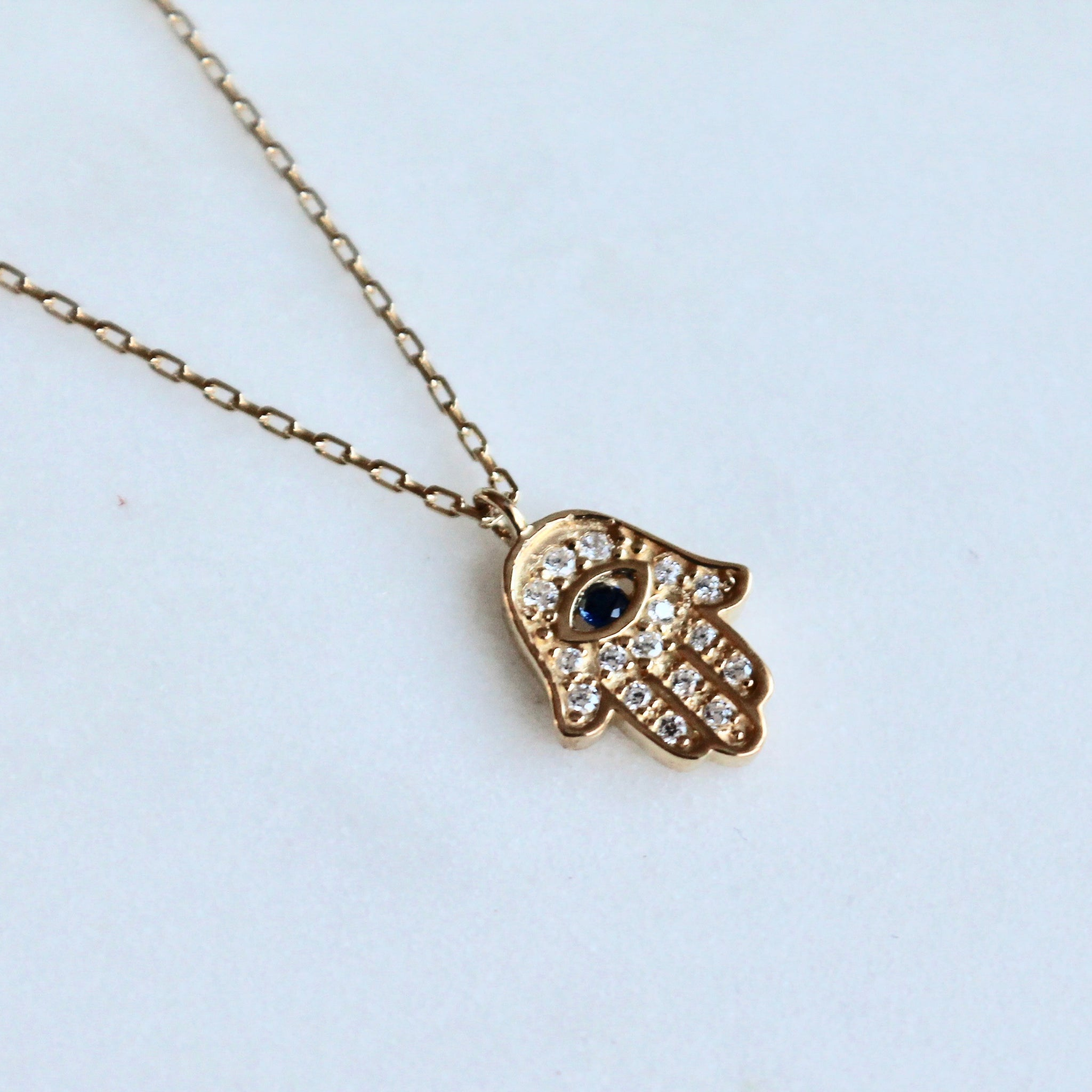Hamsa sterling necklace - Lily Lough Jewelry