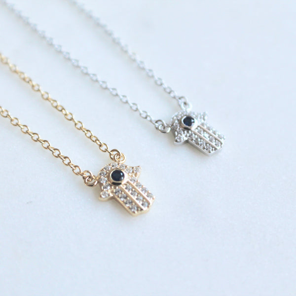 Hamsa sterling silver necklace - Lily Lough Jewelry