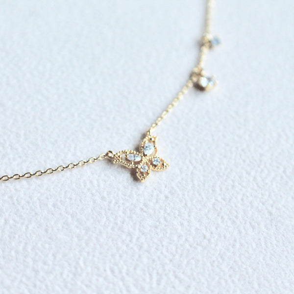 Butterfly charms necklace - Lily Lough Jewelry