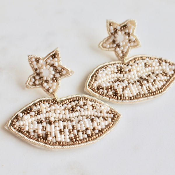 Kiss beaded earrings - Lily Lough Jewelry