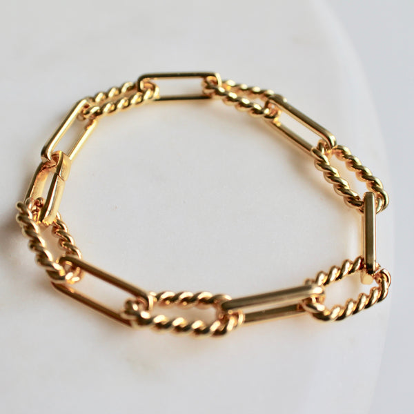 Alexandra gold bracelet - Lily Lough Jewelry
