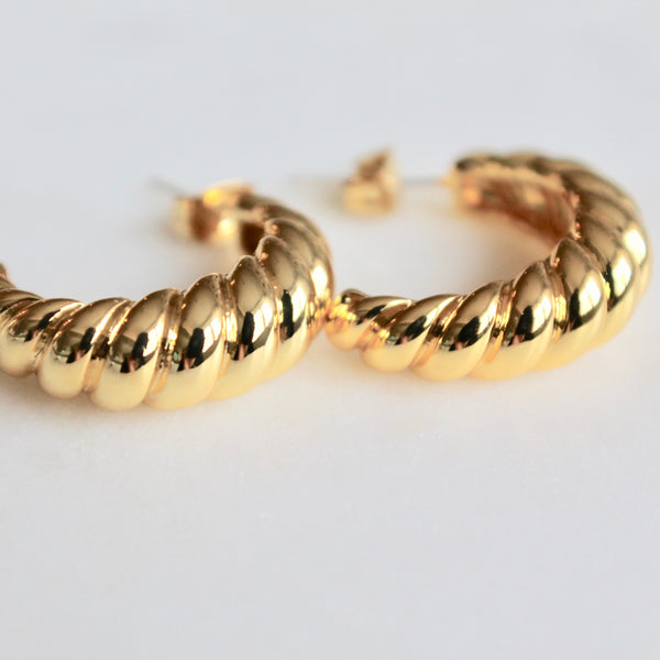Croissant hoop earrings - Lily Lough Jewelry