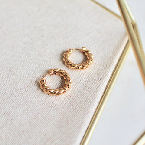 Tiny twisted hoops - Lily Lough Jewelry