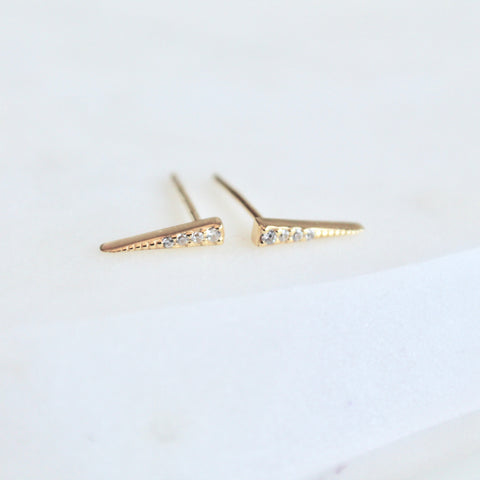 Spike stud earrings - Lily Lough Jewelry