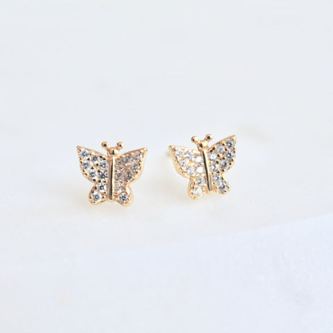 Butterfly studs - Lily Lough Jewelry