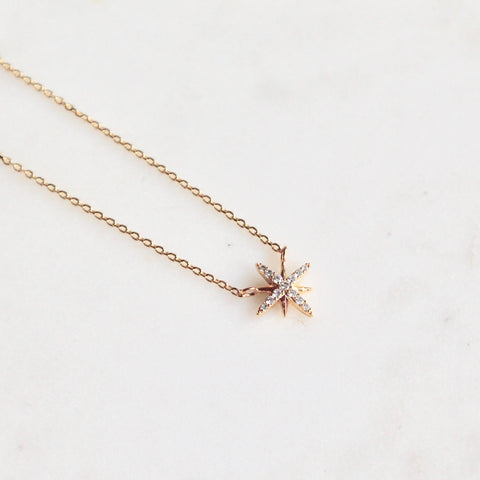 Star dainty necklace