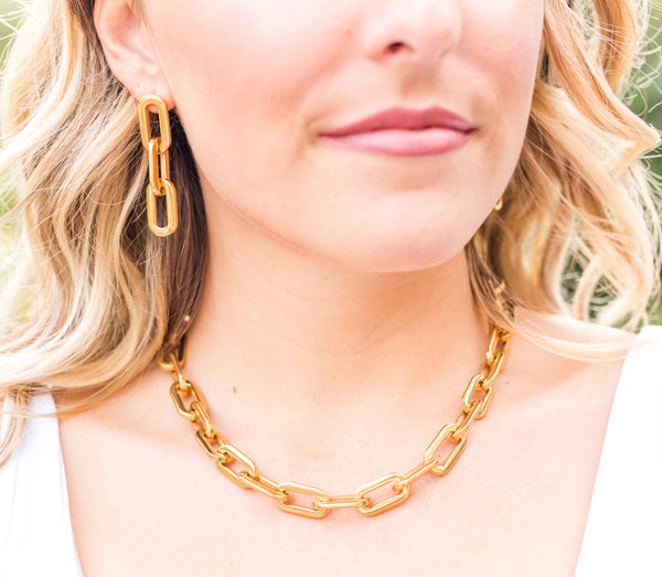 Hailey chunky chain necklace - Lily Lough Jewelry