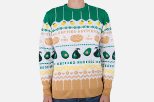 All Natural: Avocado & Hummus Knitted Christmas Jumper