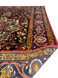 "Antique Persian Bakhtiari 5' x 6' 10"" Handmade Wool Area Rug - Shabahang Royal Carpet"