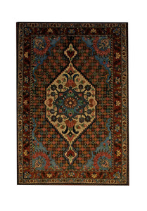 "Persian Bakhtiari 3' 6"" x 4' 11"" Handmade Area Rug - Shabahang Royal Carpet"