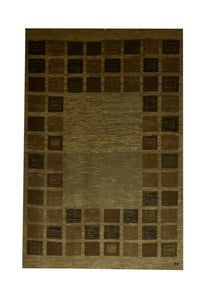"Persian Gabbeh 3' 5"" x 5' Wool Handmade Area Rug - Shabahang Royal Carpet"