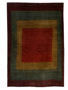 "Persian Gabbeh 3' 8"" x 5' 8"" Wool Handmade Area Rug - Shabahang Royal Carpet"