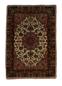 "Persian Bijar 2' 1"" x 3' Handmade Area Rug - Shabahang Royal Carpet"