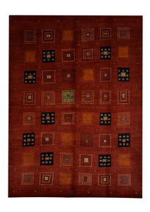 "Persian Gabbeh 7' x 9' 9"" Wool Handmade Area Rug - Shabahang Royal Carpet"