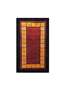 "Persian Gabbeh 2' 6"" x 4' 2"" Red Wool Handmade Area Rug - Shabahang Royal Carpet"