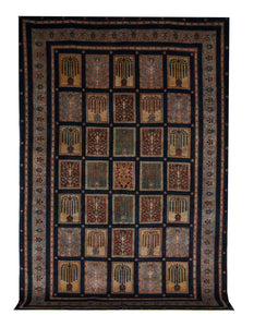 "Persian Gabbeh 7' 3"" x 10' 8"" Wool Handmade Area Rug - Shabahang Royal Carpet"