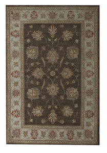 "Peshawar 3' 4"" x 5' 1"" Brown Handmade Area Rug - Shabahang Royal Carpet"