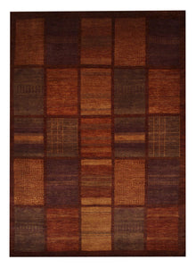 "Gabbeh 5' 1"" x 7' 1"" Wool Handmade Area Rug - Shabahang Royal Carpet"