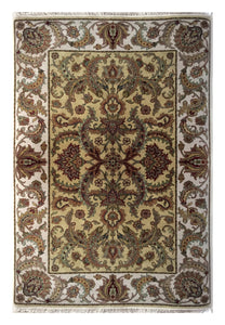 "Agra 4' 1"" x 6' 1"" Wool Handmade Area Rug - Shabahang Royal Carpet"