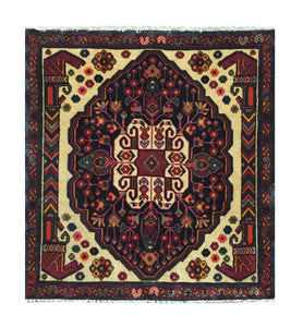 "Persian Ghashghaei 1' 11"" x 2' 2"" Handmade Area Rug - Shabahang Royal Carpet"