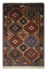 "Persian Yallameh 3' 5"" x 5' 3"" Handmade Area Rug - Shabahang Royal Carpet"