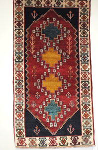 "Persian Shiraz 2' 10"" x 5' 6"" Handmade Area Rug - Shabahang Royal Carpet"