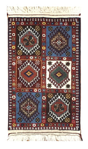 "Persian Yallameh 1' 9"" x 2' 9"" Handmade Area Rug - Shabahang Royal Carpet"